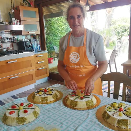 L'ambasciatrice del gusto Rita Del Castillo e la sua Cassata siciliana salata